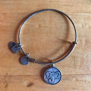 Silver Elephant Alex and Ani Bracelet